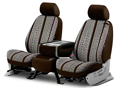 Fia Custom Fit Saddle Blanket Front Seat Cover - Brown (14-18 Silverado 1500 w/ Bench Seat)