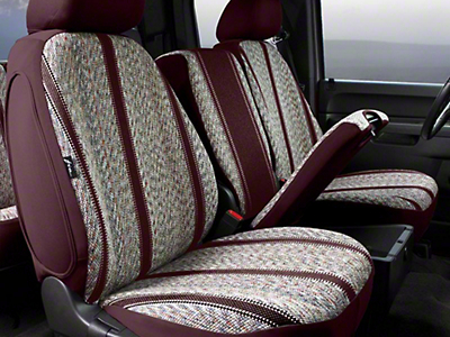 Fia Custom Fit Saddle Blanket Front Seat Cover - Wine (07-13 Silverado 1500 w/ Bench Seat)