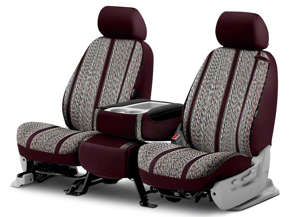 Fia Custom Fit Saddle Blanket Front Seat Cover - Wine (14-18 Silverado 1500 w/ Bench Seat)