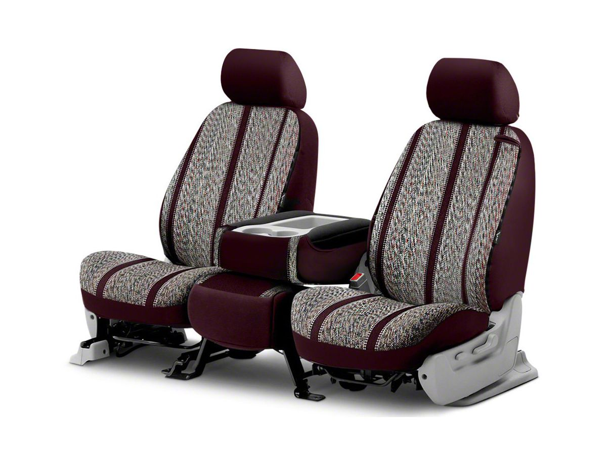 Terrific Fia Custom Fit Saddle Blanket Front Seat Cover Wine 14 18 Silverado 1500 W Bench Seat Machost Co Dining Chair Design Ideas Machostcouk