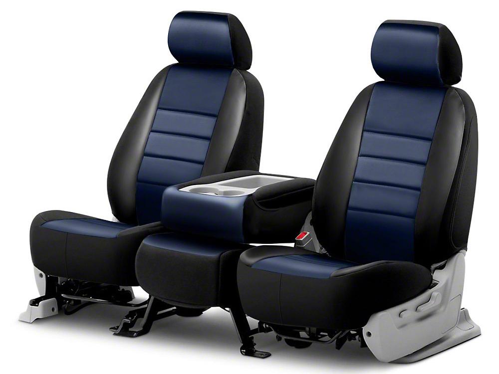 Fia Custom Fit Leatherlite Front Seat Covers - Blue (14-18 Silverado 1500 w/ Bucket Seats)