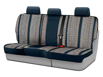 Fia Custom Fit Saddle Blanket Rear Seat Cover - Navy (07-13 Silverado 1500 Extended Cab, Crew Cab)
