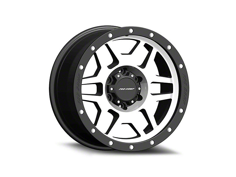 Pro Comp Wheels Phaser Machined 6-Lug Wheel - 17x9; -6mm Offset (99-19 Silverado 1500)