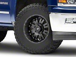 Pro Comp Wheels 01 Series Satin Black 6-Lug Wheel; 17x8; 0mm Offset (14-18 Silverado 1500)