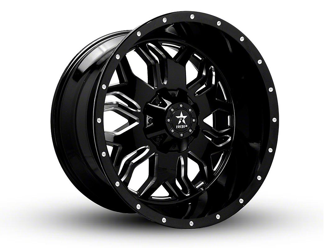 RBP 87R Blade Gloss Black w/ Machined Grooves 6-Lug Wheel - 22x12 (99-18 Silverado 1500)