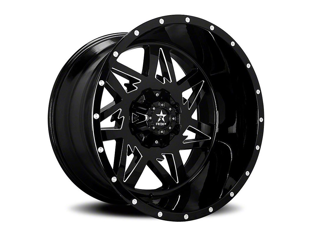 RBP 71R Avenger Gloss Black w/ Machined Grooves 6-Lug Wheel - 20x10 (99-18 Silverado 1500)