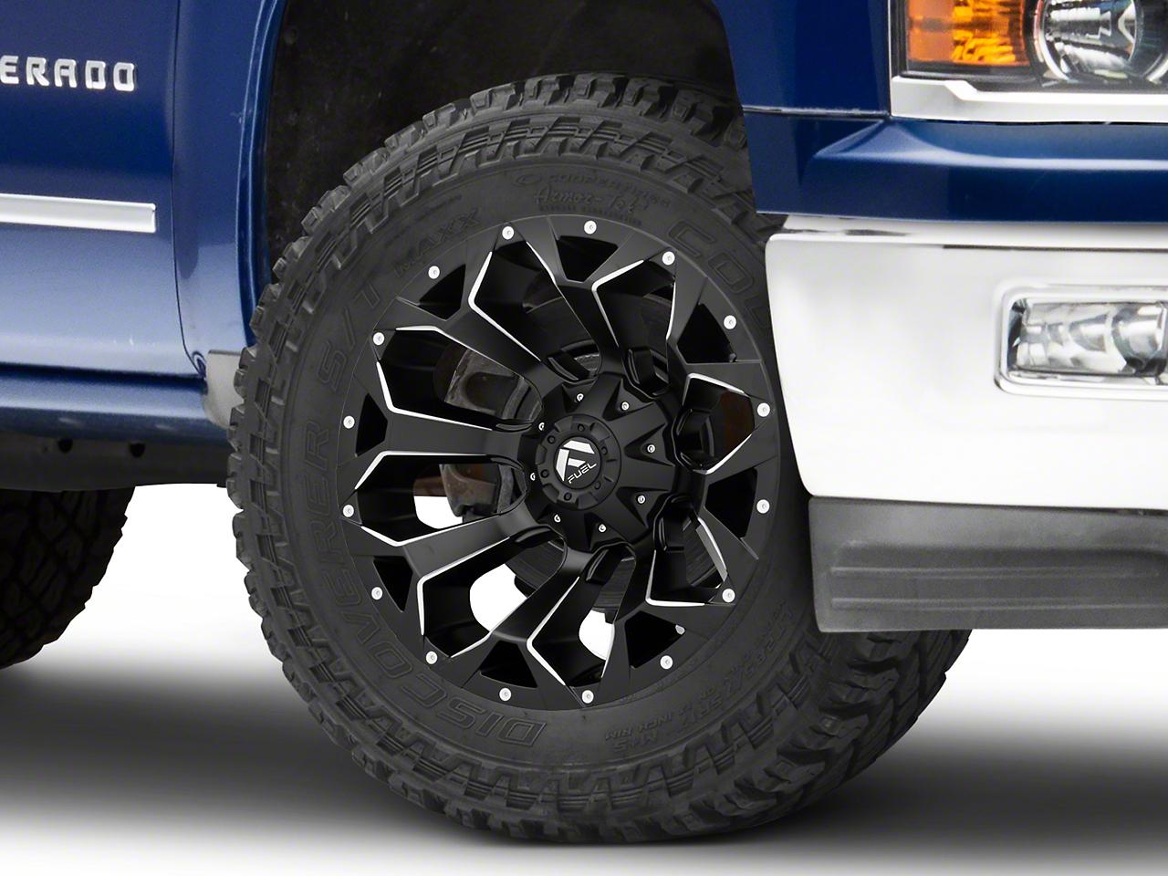 Fuel Wheels Assault Black Milled 6-Lug Wheel - 20x10 (99-18 Silverado 1500)