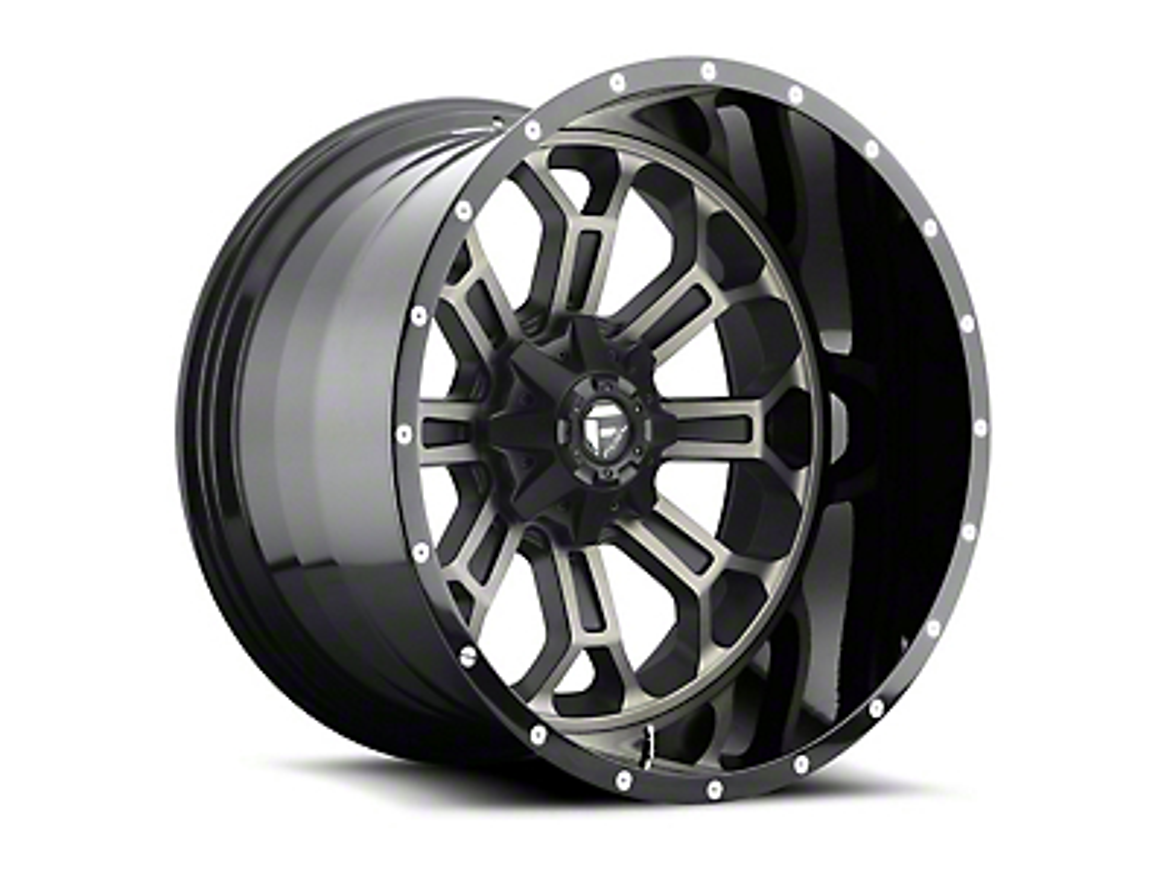 Fuel Wheels Crush Matte Black Machined 6-Lug Wheel - 22x10 (99-18 Silverado 1500)
