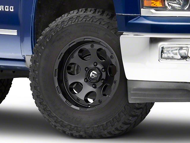 Fuel Wheels Silverado Enduro Matte Black 6 Lug Wheel 17x9