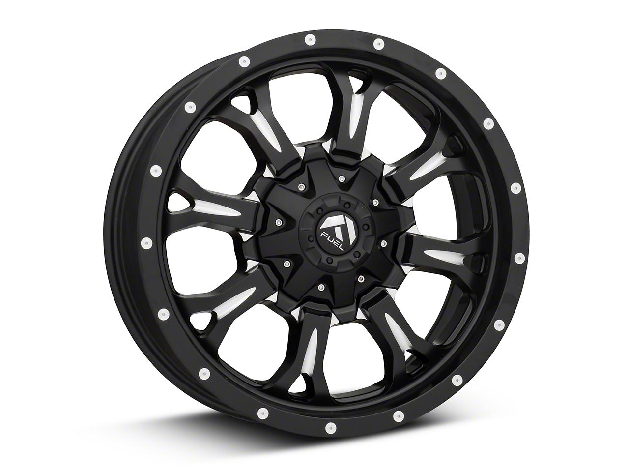 Fuel Wheels Krank Black Milled 6-Lug Wheel - 20x9 (99-18 Silverado 1500)