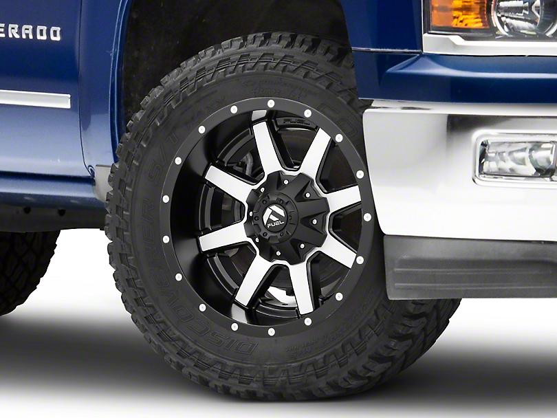 Fuel Wheels Maverick Black Machined 6-Lug Wheel - 18x9; -12mm Offset (99-19 Silverado 1500)