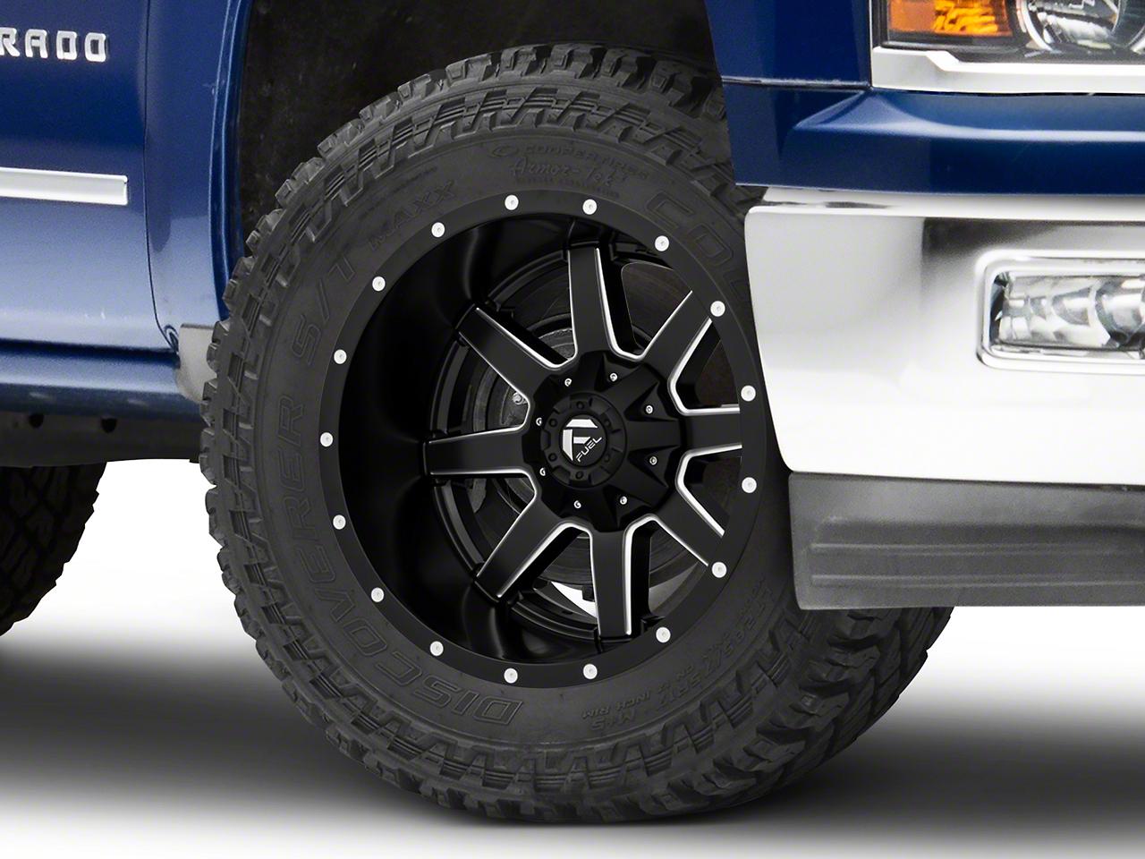 Fuel Wheels Maverick Black Milled 6-Lug Wheel - 20x12 (99-18 Silverado 1500)