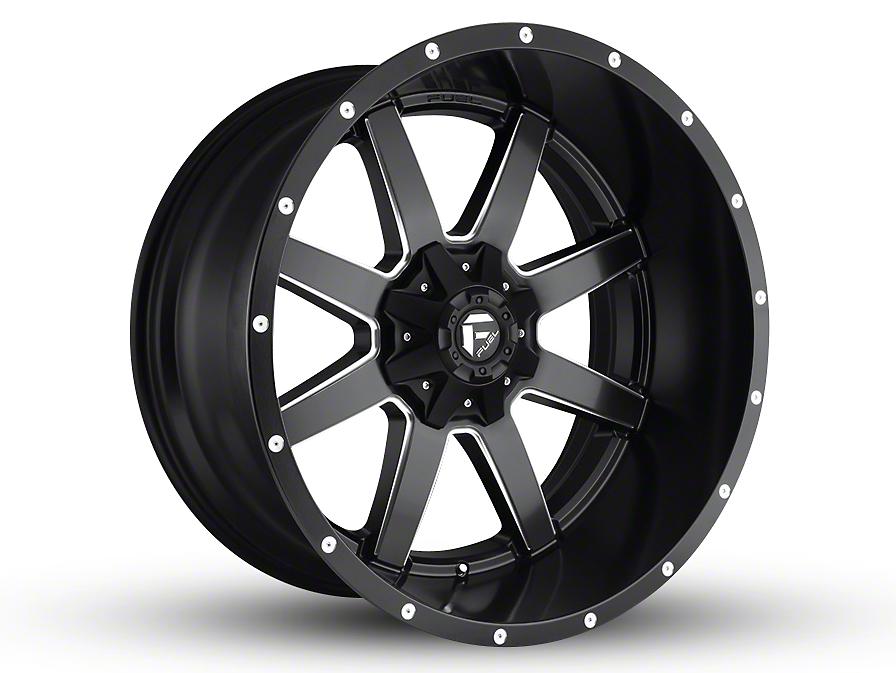Fuel Wheels Maverick Black Milled 6-Lug Wheel - 24x14 (99-18 Silverado 1500)