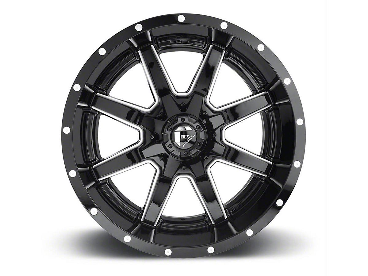 Fuel Truck Wheels >> Fuel Wheels Maverick Gloss Black Milled 6 Lug Wheel 22x12 44mm Offset 19 20 Silverado 1500