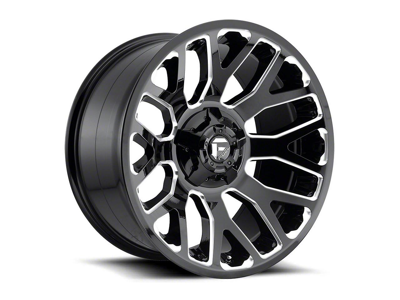 Fuel Wheels Titan II Gloss Black Milled 6-Lug Wheel - 20x10 (99-18 Silverado 1500)