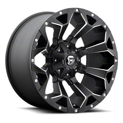 Fuel Wheels Assault Black Milled 6-Lug Wheel - 20x9 (99-18 Silverado 1500)