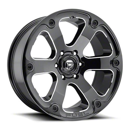 Fuel Wheels Beast Gloss Black Milled 6-Lug Wheel - 18x9 (99-18 Silverado 1500)