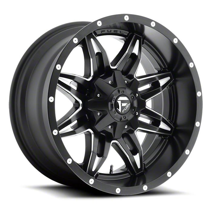 Fuel Wheels Lethal Black Milled 6-Lug Wheel - 20x10 (99-18 Silverado 1500)
