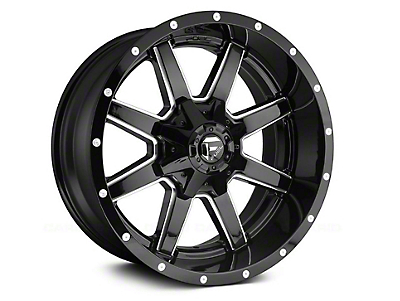 Fuel Wheels Maverick Gloss Black Milled 6-Lug Wheel - 18x9 (99-18 Silverado 1500)