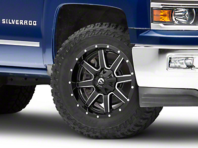Fuel Wheels Maverick Gloss Black Milled 6-Lug Wheel - 20x9 (99-18 Silverado 1500)