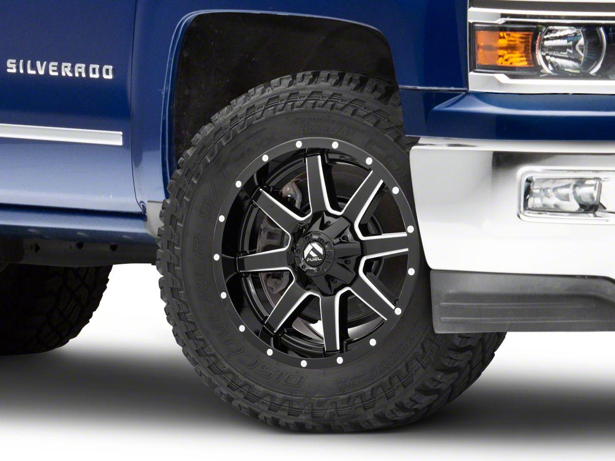 Fuel Wheels 20x9 >> Fuel Wheels Maverick Gloss Black Milled 6 Lug Wheel 20x9 99 20 Silverado 1500