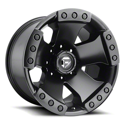 Fuel Wheels Monsta Matte Black 6-Lug Wheel - 17x9 (99-18 Silverado 1500)