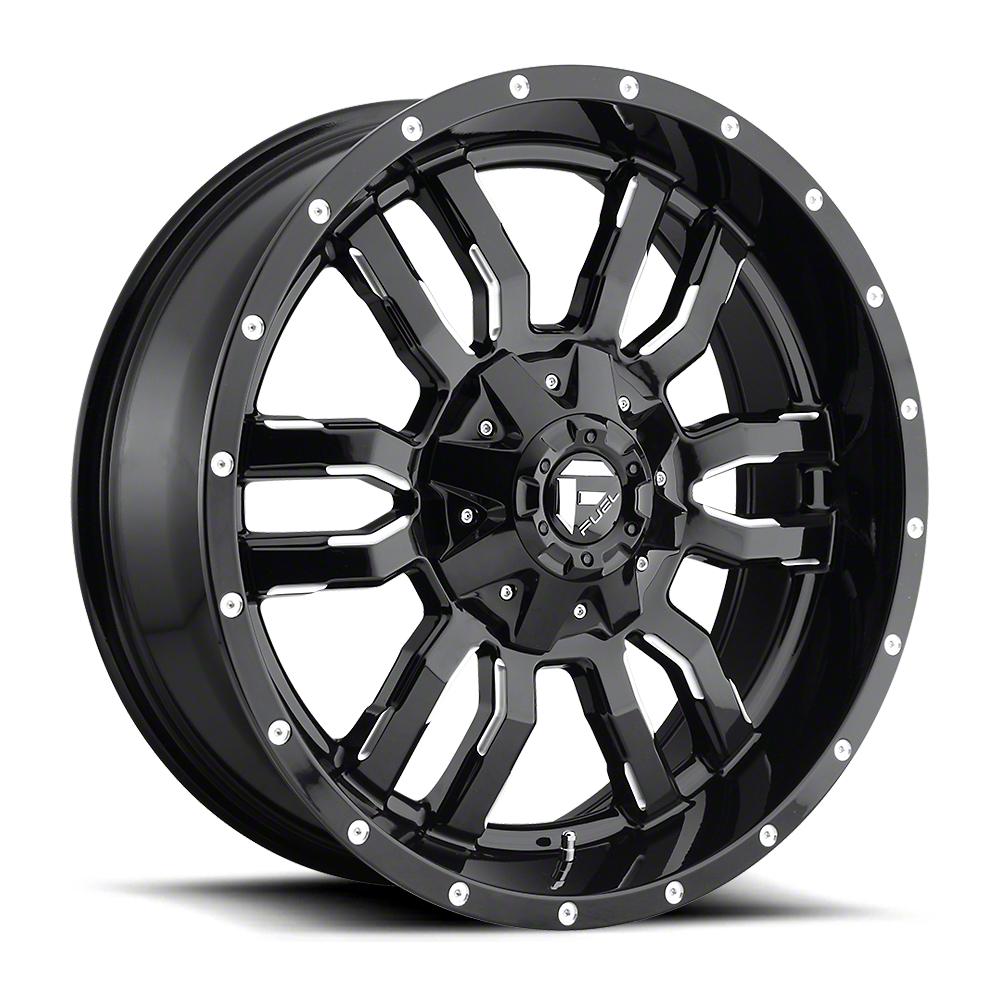 Fuel Wheels Sledge Gloss Black Milled 6-Lug Wheel - 20x9 (99-18 Silverado 1500)