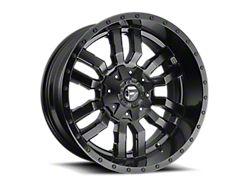 Fuel Wheels Sledge Gloss and Matte Black 6-Lug Wheel; 18x9; 1mm Offset (19-22 Silverado 1500)