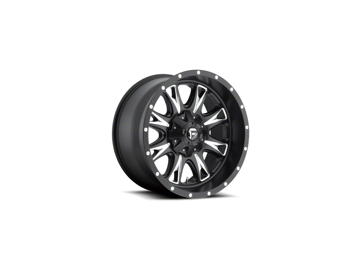 Fuel Wheels Throttle Black Milled 6-Lug Wheel - 18x10 (99-19 Silverado 1500)