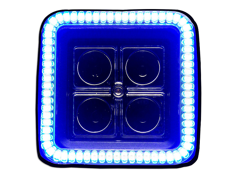 Oracle 3 in. Square Halo for Cube/Square Lights - Blue