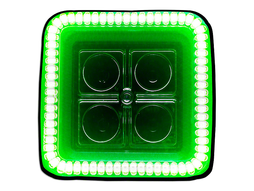 Oracle 3 in. Square Halo for Cube/Square Lights - Green