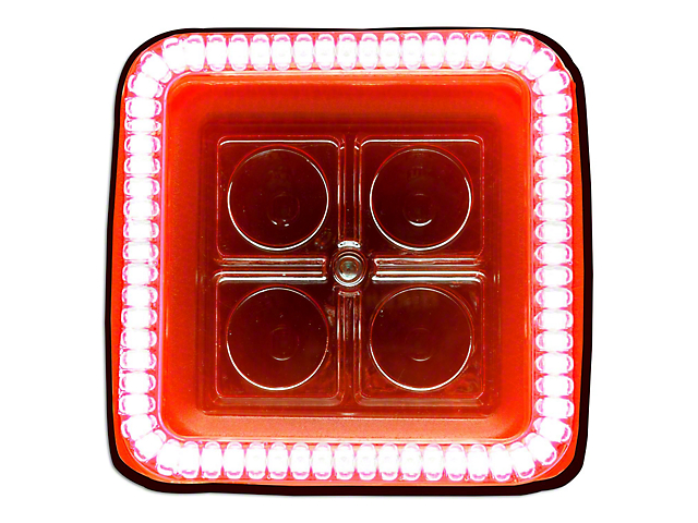 Oracle 3 in. Square Halo for Cube/Square Lights - Amber