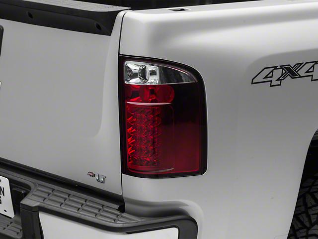 LED Tail Lights; Red (07-13 Silverado 1500)