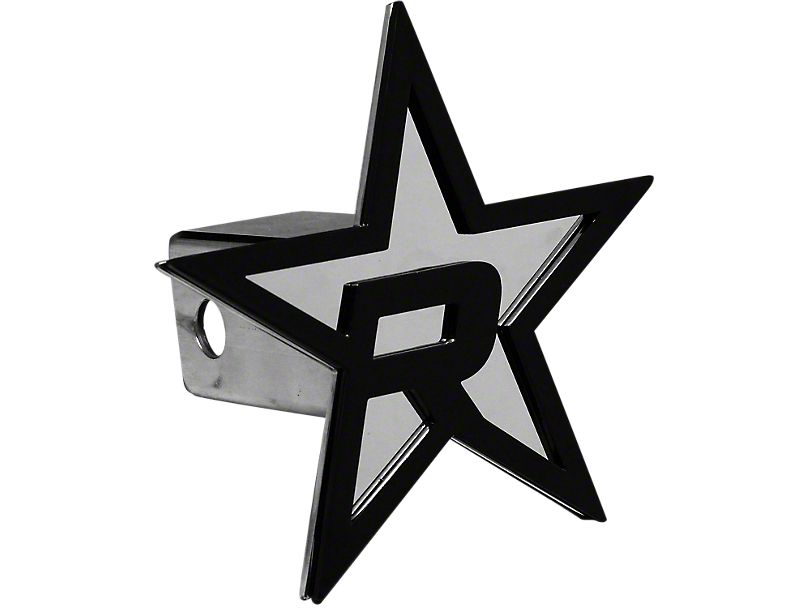 RBP Chrome/Black Star Hitch Cover (99-19 Silverado 1500)