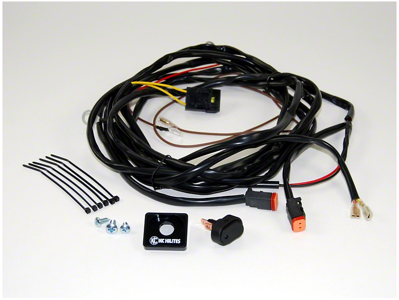 KC HiLiTES Wiring Harness for 2 Lights w/ 2-Pin Deutsch Connectors