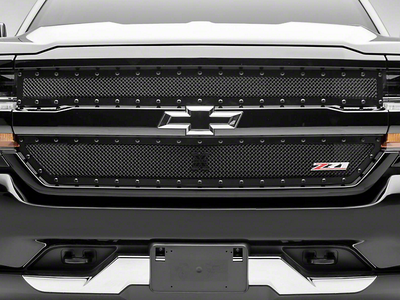 T-REX Stealth X-Metal Series Upper Overlay Grille - Black (16-18 Silverado 1500 w/ Z71 Package)