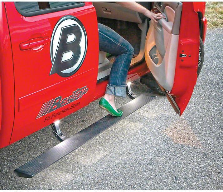 Bestop Powerboard Automatic Running Boards (14-18 Silverado 1500 Double Cab Cab, Crew Cab)