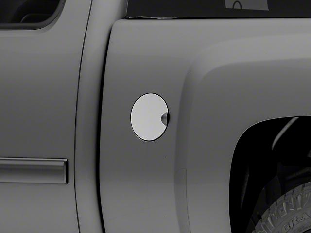 Gas Door Cover Trim; Stainless Steel (07-13 Silverado 1500)