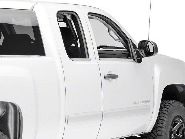 Window Sill Trim; Stainless Steel (07-13 Silverado 1500 Regular Cab, Extended Cab)