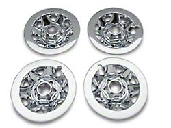 17-Inch Wheel Skins; Chrome (14-16 Silverado 1500)