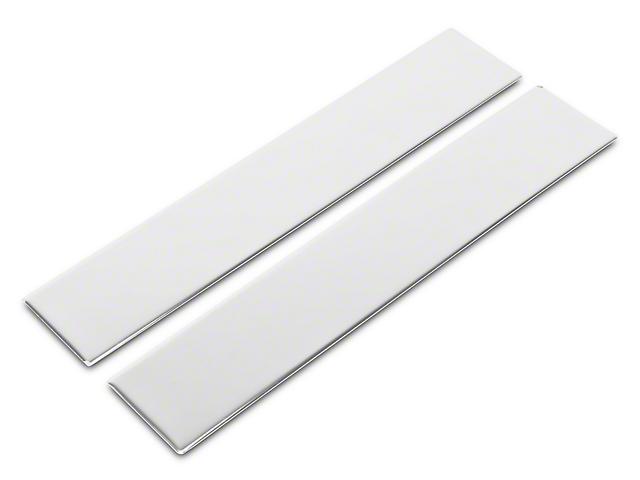 Sliding Rear Window Trim Accents; Stainless Steel (14-18 Silverado 1500)
