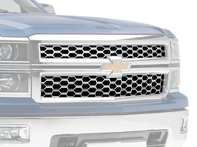 Upper Overlay Grille; Chrome (14-15 Silverado 1500 LT, WT)