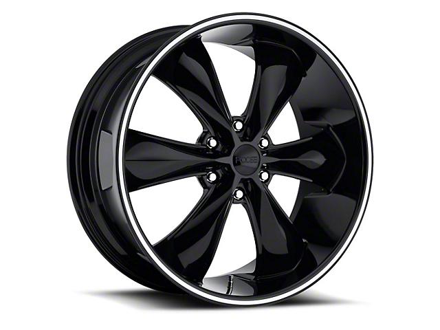 Foose Legend Six Gloss Black 6-Lug Wheel; 22x9.5; 35mm Offset (07-13 Silverado 1500)