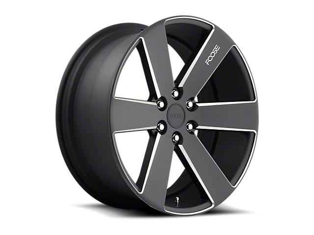Foose Switch Black Milled 6-Lug Wheel - 22x9.5; 30mm Offset (07-13 Silverado 1500)