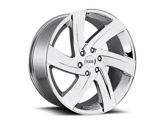 Foose Bodine Chrome 6-Lug Wheel; 22x9.5; 25mm Offset (19-20 Silverado 1500)
