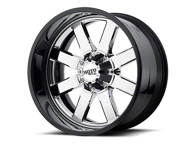 Moto Metal MO200 Chrome w/ Gloss Black Milled Lip 6-Lug Wheel - 22x10; -18mm Offset (99-19 Silverado 1500)