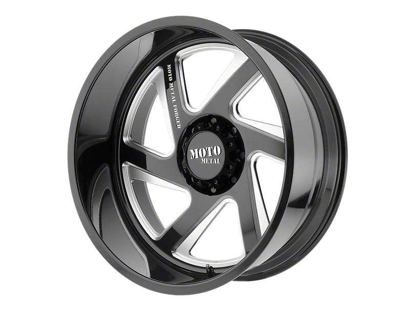 Moto Metal MO400 Gloss Black Milled 6-Lug Wheel - Passenger Side - 20x12; -44mm Offset (99-19 Silverado 1500)