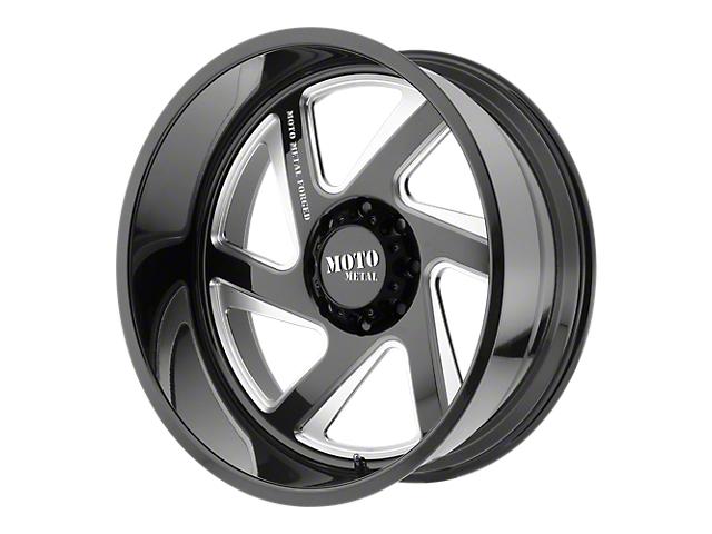 Moto Metal MO400 Gloss Black Milled 6-Lug Wheel - Driver Side - 22x10; -18mm Offset (99-19 Silverado 1500)