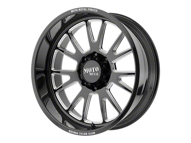 Moto Metal MO401 Gloss Black Milled 6-Lug Wheel - 22x10; -18mm Offset (99-19 Silverado 1500)