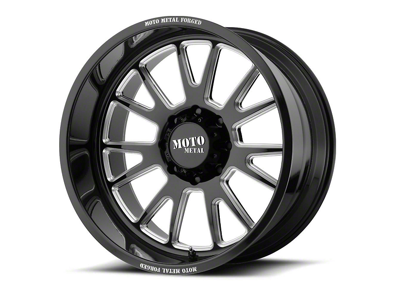 Moto Metal MO401 Gloss Black Milled 6-Lug Wheel - 24x14; -76mm Offset (99-19 Silverado 1500)
